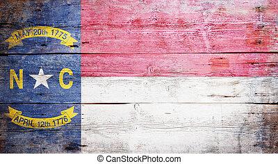 estado, norte, bandera, carolina