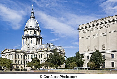 estado, springfield, -, capitol, illinois