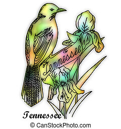estado, tennessee, pájaro