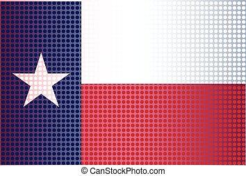 estado texas, doted, bandeira