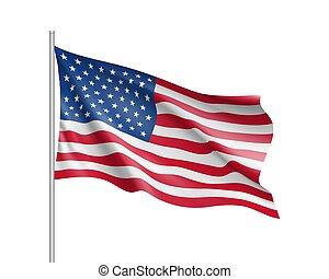estado, unidas, bandeira, américa