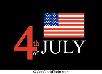 estado unido, isolado, bandeira, vetorial, américa