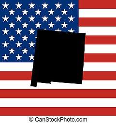 estados, américa, estado, unidas, ilustração