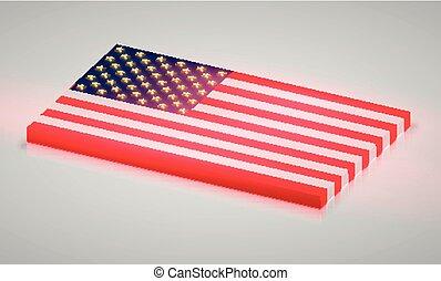 estados, américa, unidas, bandeira, vetorial