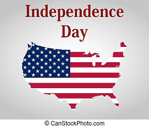 estados, america., unidas, dia, independência