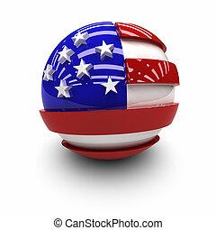 estados, bandeira, unidas