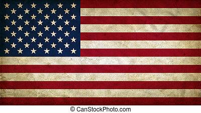 estados, bandeira, unidas, grunge, américa