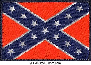 estados, bandera, américa, confederado