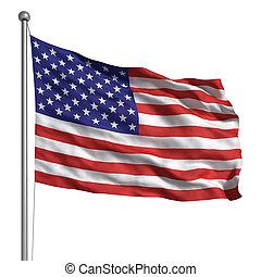 estados, bandera, unido