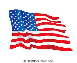 estados, bandera, vector, unido, ilustración