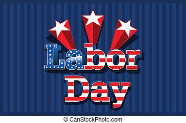 estados, día, unido, américa, trabajo