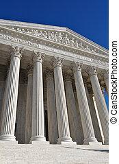 estados, edificio, supremo, unido, tribunal