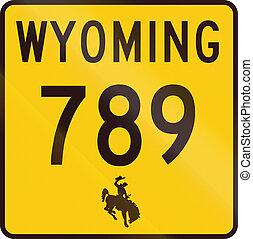 estados, estado, wyoming, unido, carretera
