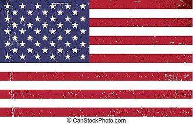 estados, flag., unidas, grunge, américa