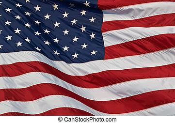 estados, flag., unido, américa