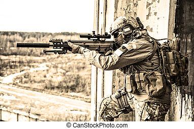 estados, guarda-florestal, unidas, exército