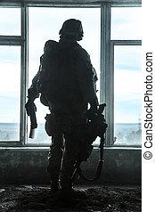 estados, guardabosques, unido, ejército