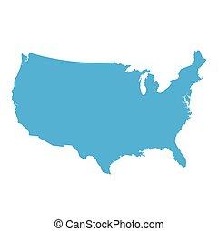 estados, mapa, américa, unidas, ilustração