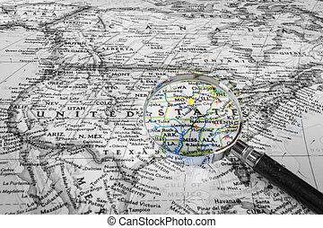estados, mapa, unidas, detalhe
