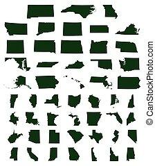 estados, mapas, jogo, nós