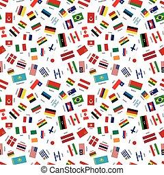 estados, mundo, banderas, soberano