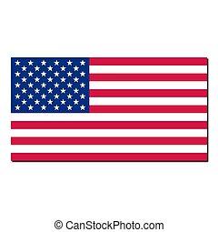 estados, nacional, unido, bandera