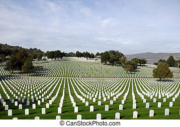estados, nacional, unido, cementerio