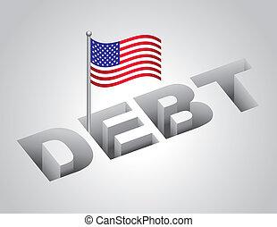estados, nacional, unido, deuda