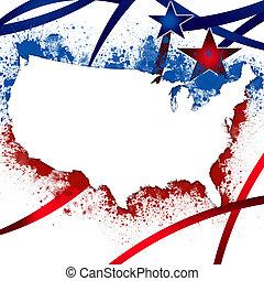 estados, patriótico, unido, plano de fondo
