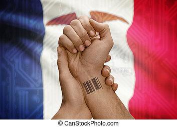 estados, pelado, iowa, estados unidos de américa, barcode...