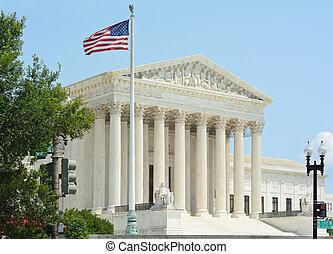 estados, supremo, unido, tribunal, bandera