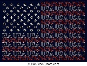 estados, texto, bandeira, unidas, américa