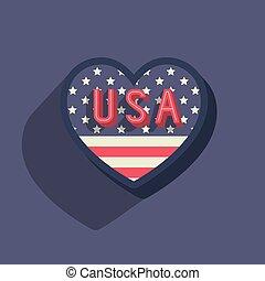 estados, unidas, américa, ícone