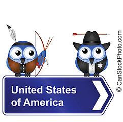 estados, unidas, américa, sinal