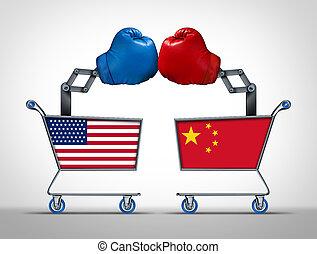 estados, unidas, china, guerra, comércio