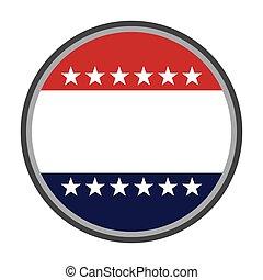 estados, unidas, emblema, américa