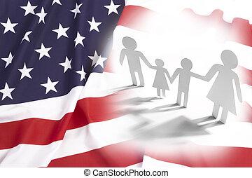 estados, unidas, família