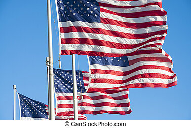 estados, unido, banderas, américa