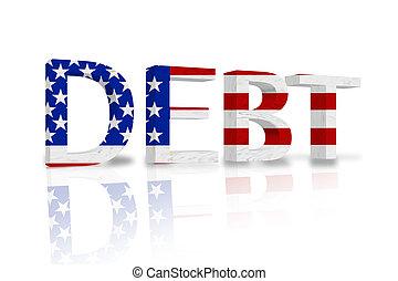 estados, unido, deuda