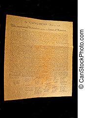 estados, unido, independencia, declaración