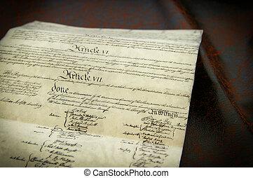 estados, unido, réplica, constitución