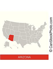 estados unidos américa, com, a, estado arizona, selected.,...