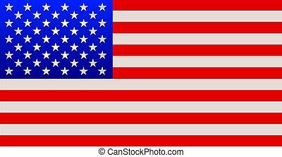 estados unidos de américa, bandera, rayas, estrellas, y