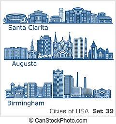 estados unidos de américa, birmingham, ciudades, augusta., ...
