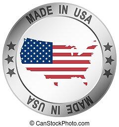 estados unidos de américa, botón, hecho