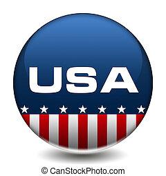 estados unidos de américa, botón