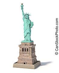 estados unidos de américa, ciudad, aislado, libertad, york,...