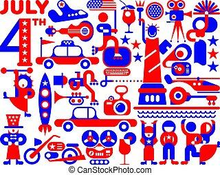 estados unidos de américa, día de independencia