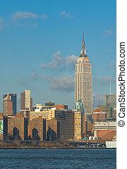 estados unidos de américa, edificio, estado, nueva york, imperio