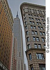 estados unidos de américa, edificio, estado, nueva york,...